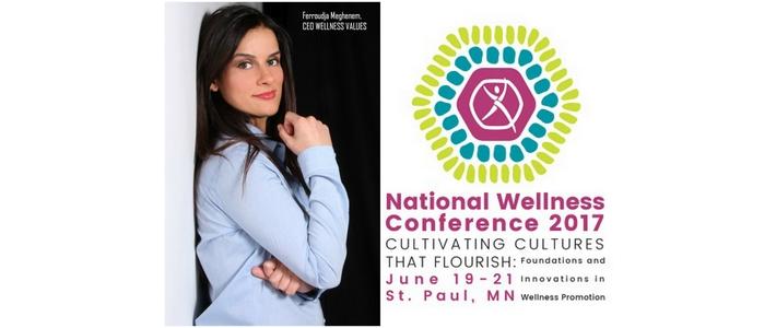 Ferroudja Meghenem interviendra lors du congrès annuel du NWI à Minneapolis du 19 au 21 juin
